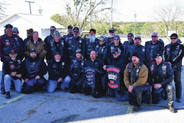 The Four Kings LE/MC and the Americas Guardians Motorcycle Club joined Bristow Mayor Rick Pinson on an Officer Down Fundraiser motorcycle ride. Angie Gentry photo