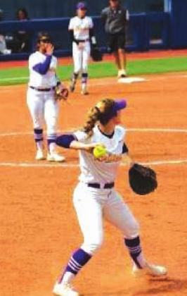 Mariah Moody looking to throw the ball after an out. courtesy photo